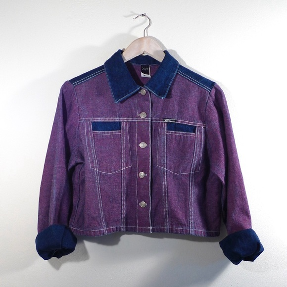 Vintage purple Denim button up 76DRH